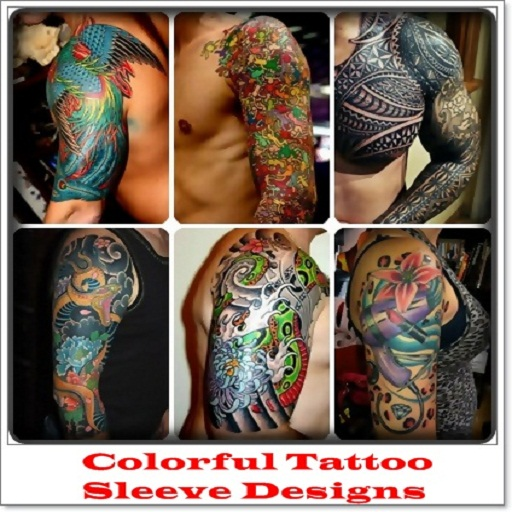 Colorful tattoo sleeve designs appstore for for Tattoo sleeves amazon