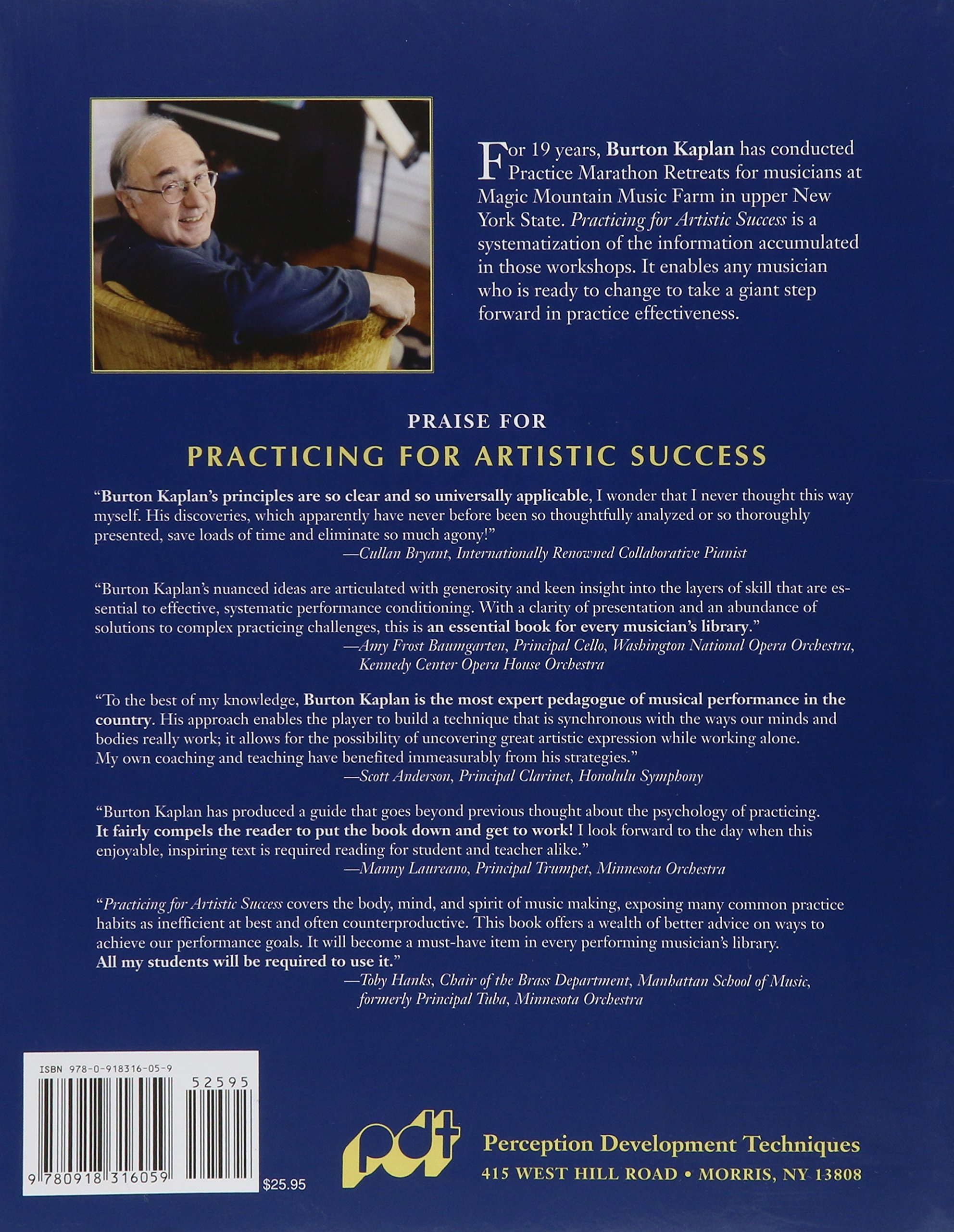 Practicing For Artistic Success: The Musician's Guide To Selfempowerment  (vol I): Burton Kaplan: 9780918316059: Amazon: Books