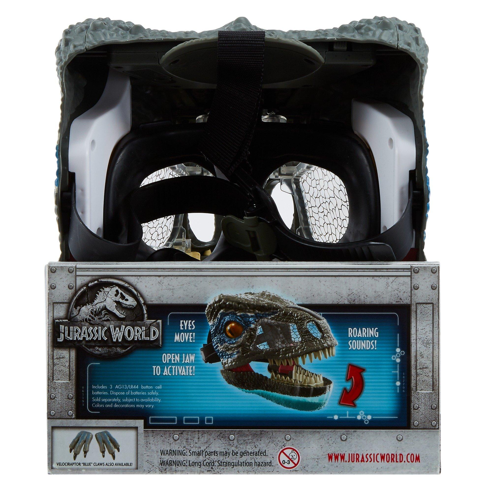 Jurassic World Chomp 'n Roar Mask Velociraptor ''blue'' by Jurassic World Toys (Image #10)
