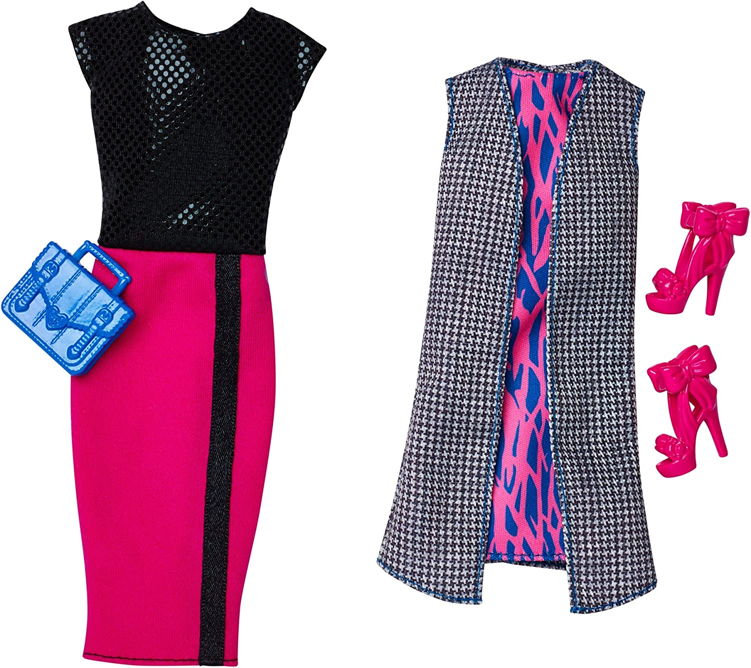 Barbie Clothes Fashionista Chic Wink Doll Houndstooth Vest Dress Also Fits Tall
