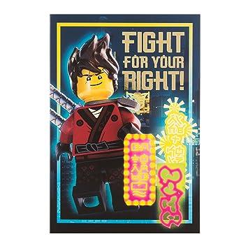 Hallmark Carte Lego Ninja Go Fight Pour Votre Droite Carte D Anniversaire