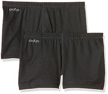 Odlo Cubic 2 Pack W Pantalón corto S ebony grey/black
