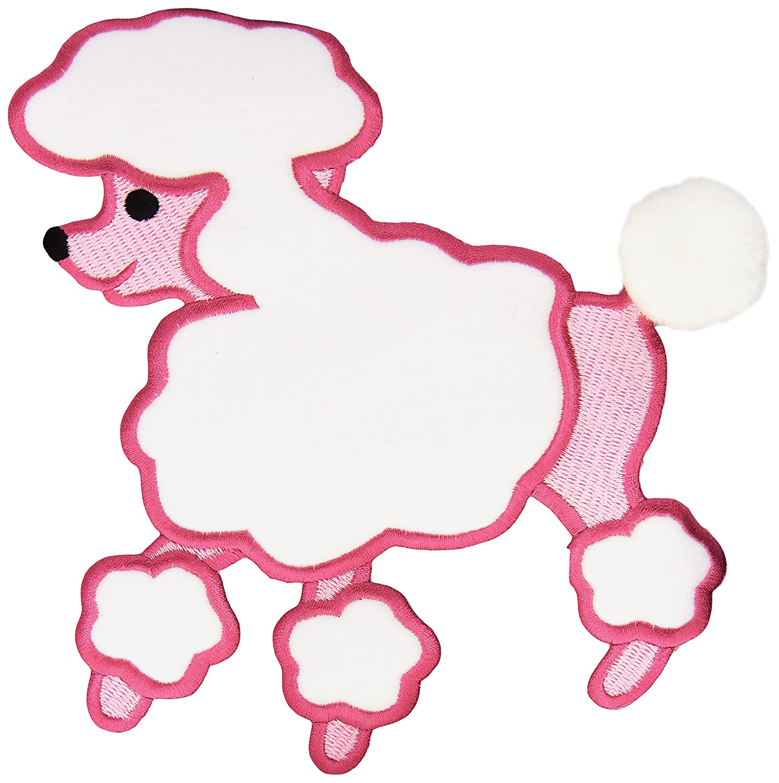 Amazon Fifi Gigi Poodle Iron On Applique Pink 7 1 4X6 2 Pkg