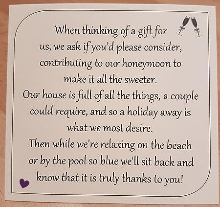 Money Request Poems Square Honeymoon For Wedding Invitations