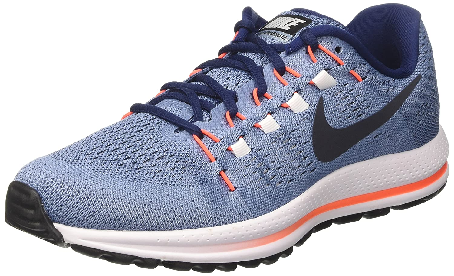 74b57fc95d4 Nike Men s Air Zoom Vomero 12 Blue Running Shoes(863762-403) (UK-7 (US-8))   Buy Online at Low Prices in India - Amazon.in
