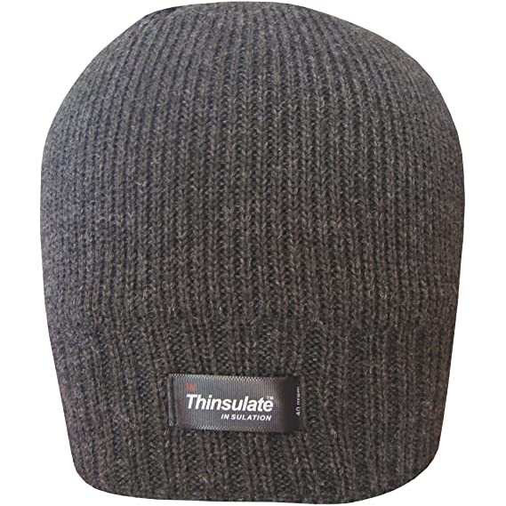 Unisex Fine Beanie Thinsulate Thermal Fleece Warm Ski Cap Bob Hat Winter Black