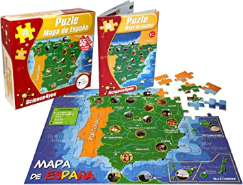 Science4you-Puzzle Mapa de España (811688): Amazon.es: Juguetes y ...