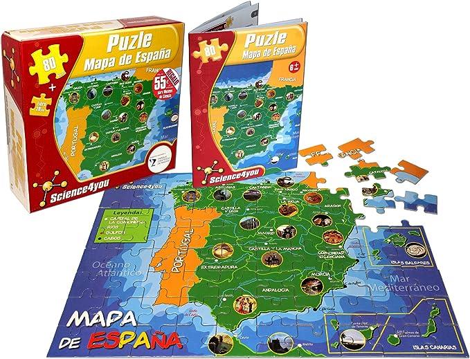 Science4you-Puzzle Mapa de España (811688): Amazon.es: Juguetes y juegos