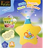 MousePotato Baby Sleep Star Light Projector plays Pleasant Gentle Music with Volume Control 100% Non Toxic