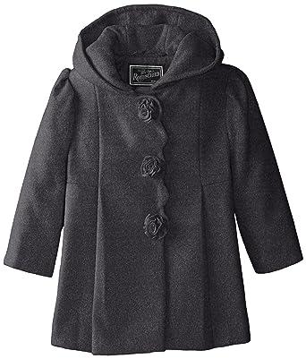 ff0b83bb734d Amazon.com  Rothschild Little Girls  Rosette Faux Wool Coat Toddler ...