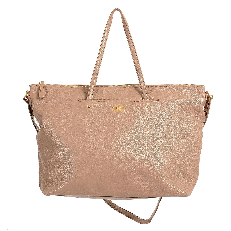 Amazon.com  Salvatore Ferragamo Leather Gray Women s Handbag Shoulder Bag   Shoes e313da2435