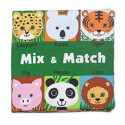 Melissa & Doug Soft Activity Baby Book - Mix and Match: Melissa & Doug: Toys & Games