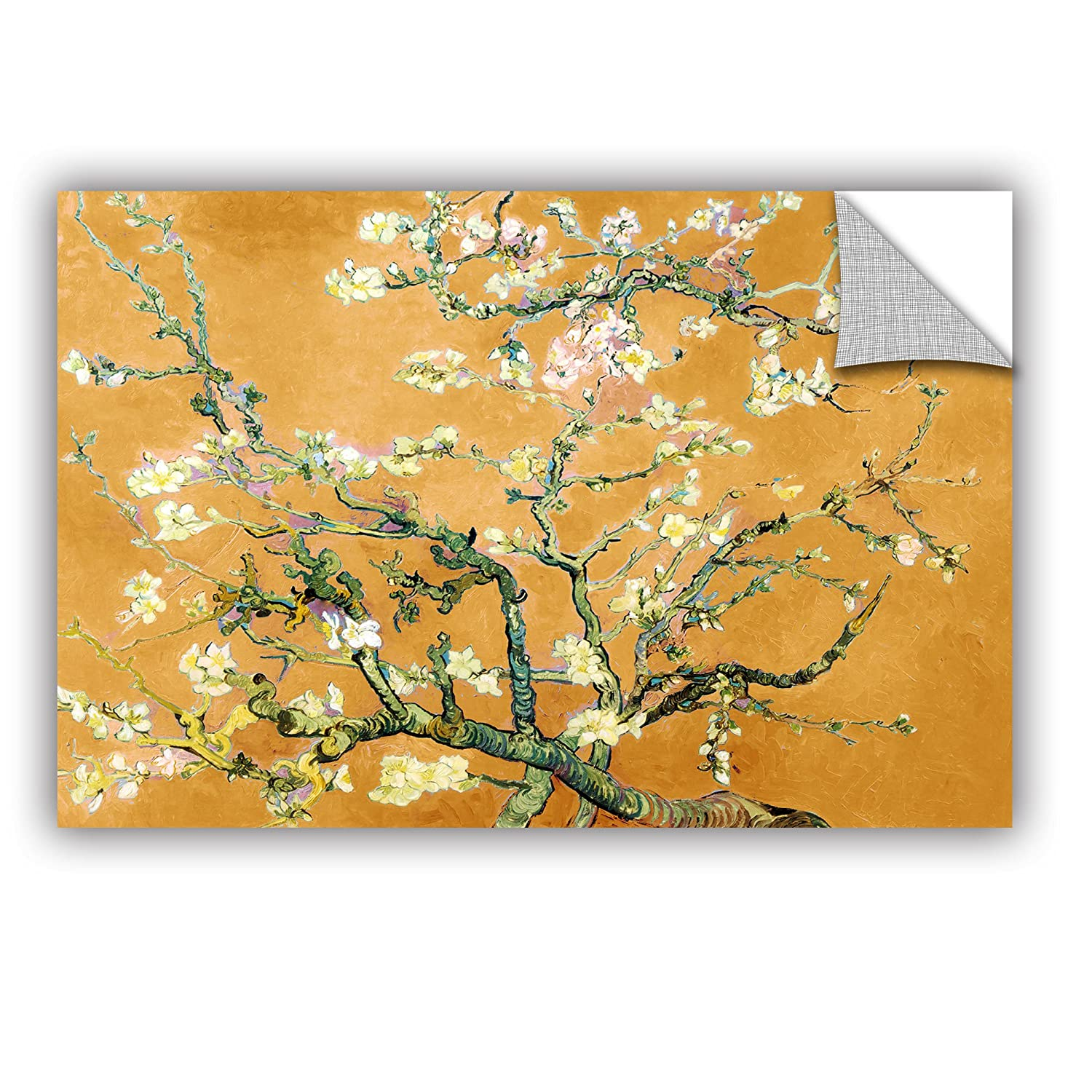 ArtWall Vincent Vangoghs Almond Blossom Interpretation in Merigold Orange Art Appealz Removable Graphic Wall Art 16 by 24-Inch