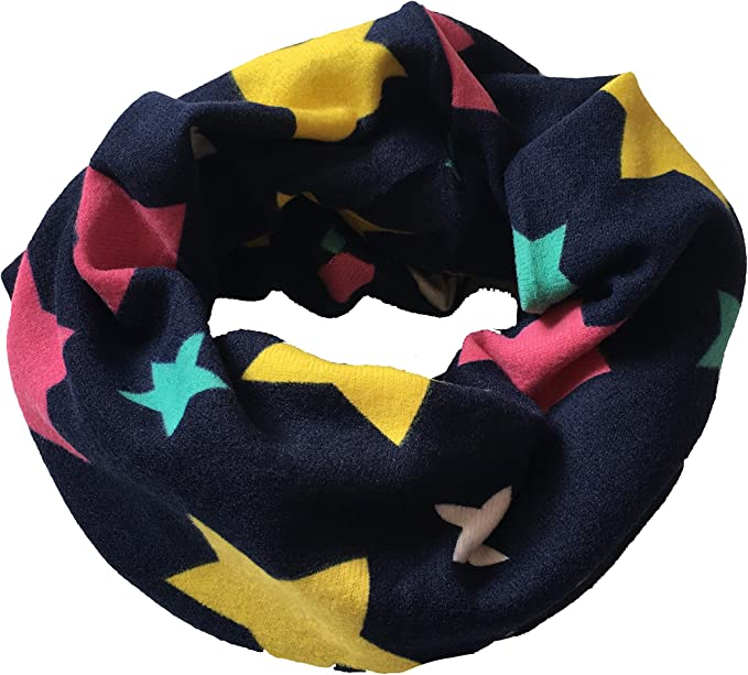 Children/'s Blue Star Scarves Snood For Kids Of All Ages *FAST DELIVERY