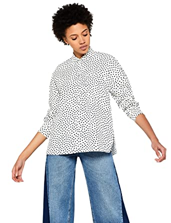 premium selection 44da5 bacf8 Marchio Amazon - find. Camicia a Pois Donna: Amazon.it ...