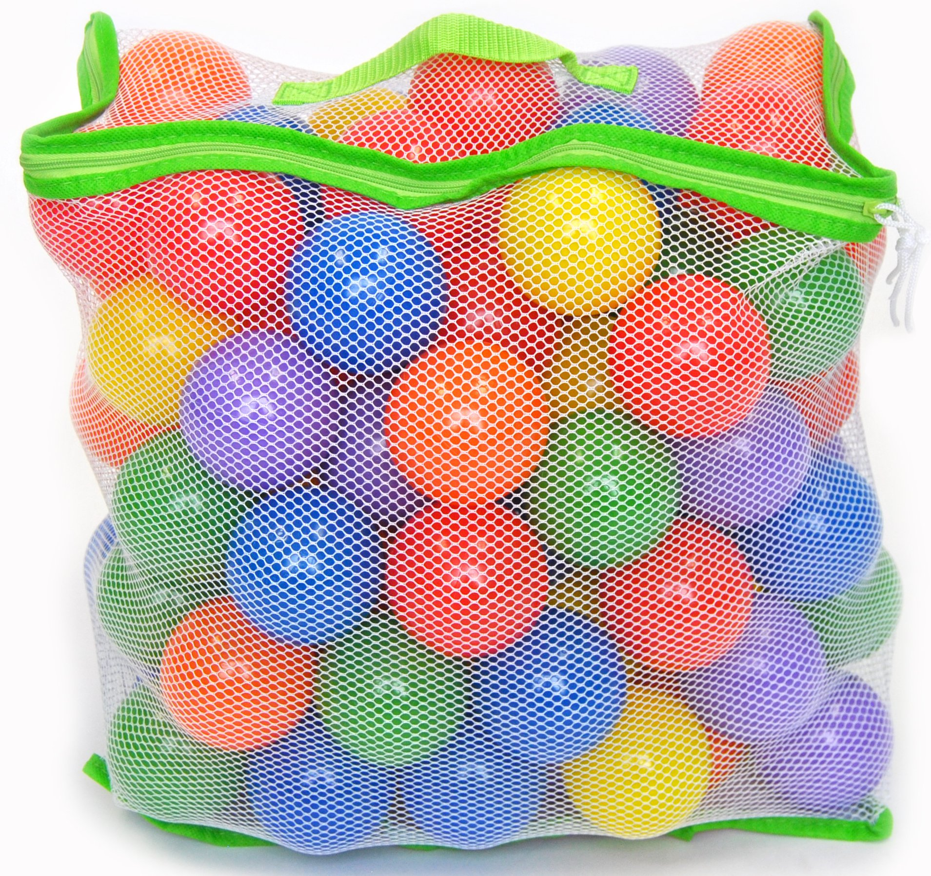 100 Wonder Playball Non-Toxic Crush Proof Quality Balls w/Mesh Tote by Wonder Playball