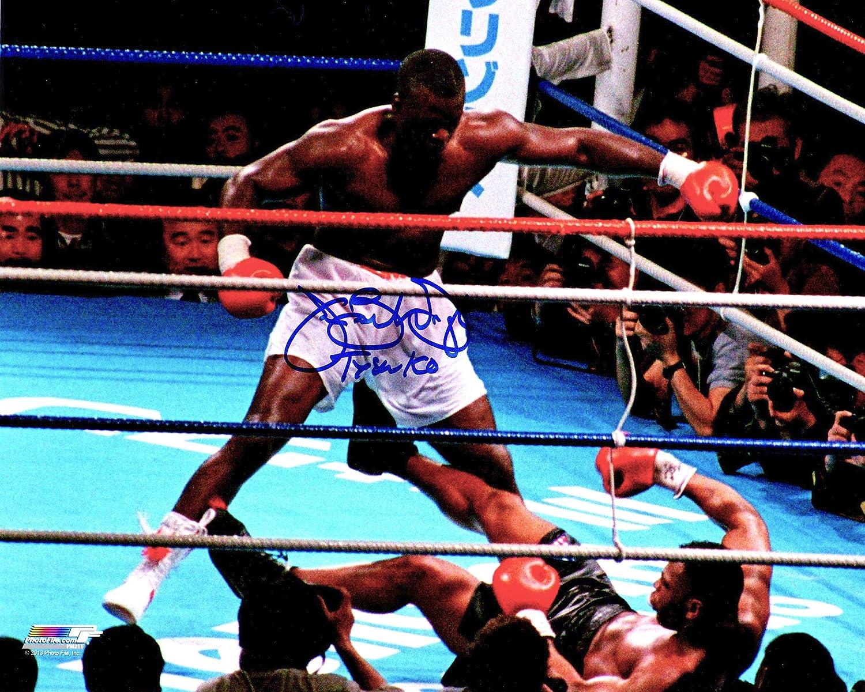 JAMES BUSTER DOUGLAS WORLD CHAMPION SIGNED BOXING KO PHOTO v TYSON COA PROOF