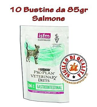 Purina ProPlan Veterinary Diets en - gastrointestinal gato Salmón 10 x 85gr: Amazon.es: Productos para mascotas