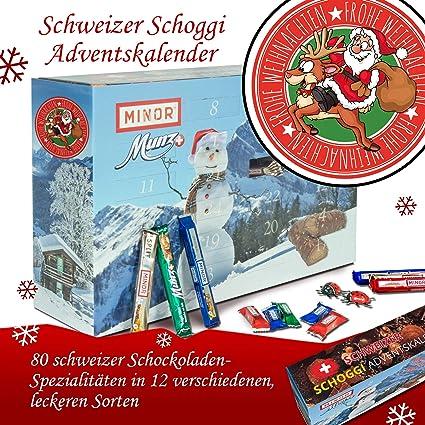 Frohe Weihnachten Schweiz.Frohe Weihnachten Santa Dunkle Schokolade Advent Kalender Munz
