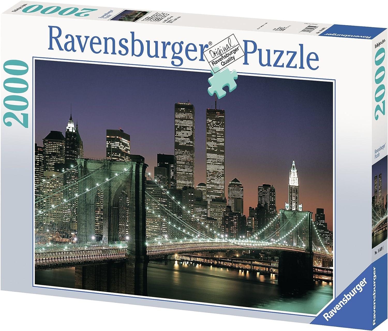 Amazon Com Ravensburger Nyc Brooklyn Bridge 2000 Piece Puzzle Toys Games