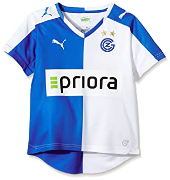 e96b13c70 Puma Children s Jersey Grasshopper Club Zürich Shirt Home Shirt Replica  with Sponsor Logo