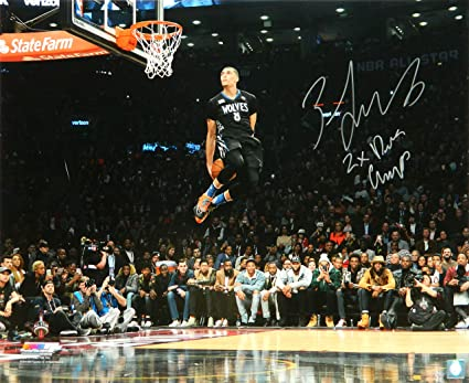 6dafcd64e034 Image Unavailable. Image not available for. Color  Zach LaVine Signed  Minnesota Timberwolves 2016 NBA Slam ...
