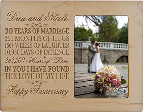 Vacation Travel Photo Engraved Wedding Anniversary Gift Honeymoon Gift for Wife Husband Anniversary Gift Personalized Picture Frame