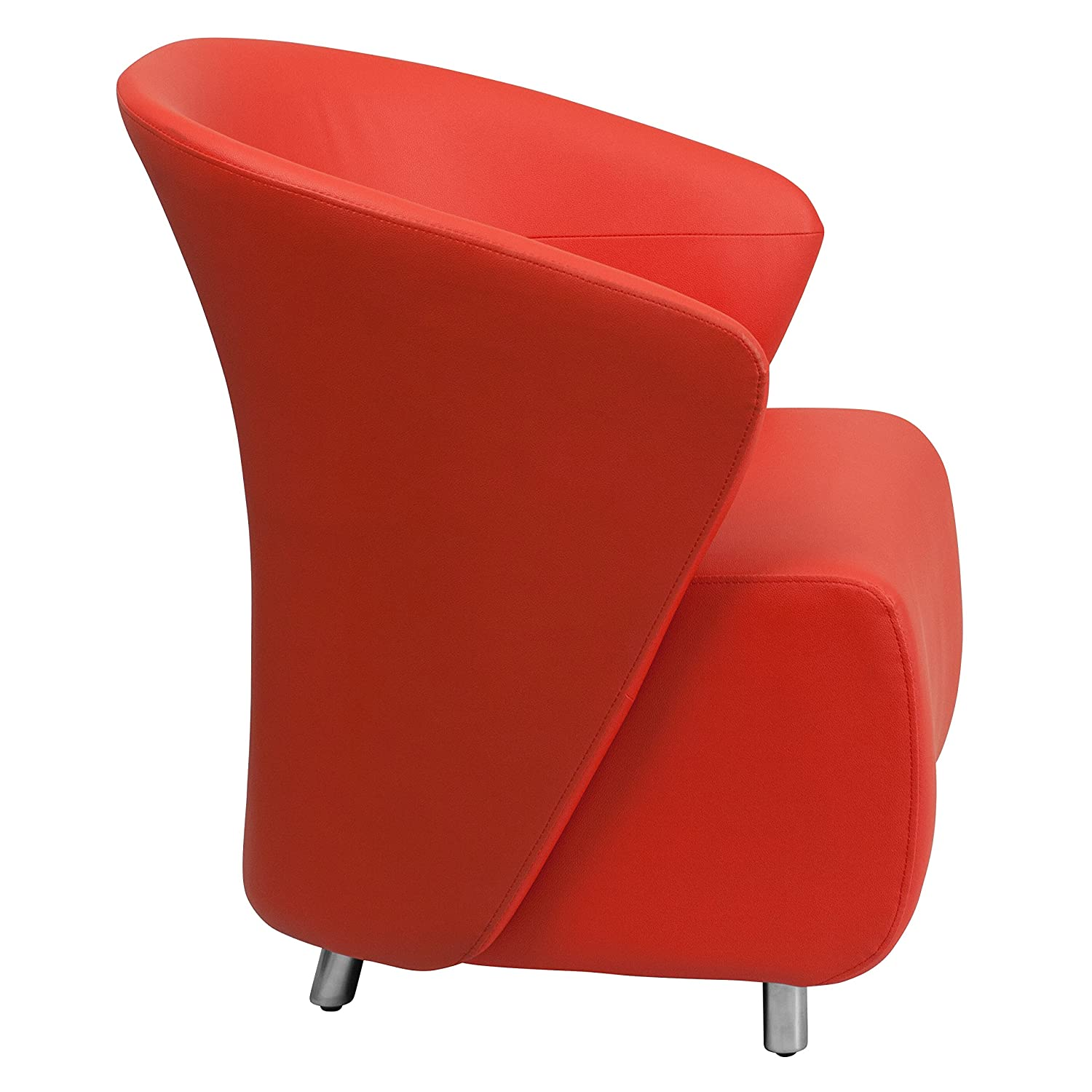 Flash Furniture Red Leather Lounge Chair