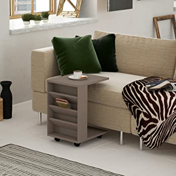 LaModaHome Mesa de café de estilo moderno, color marrón, fondo ...