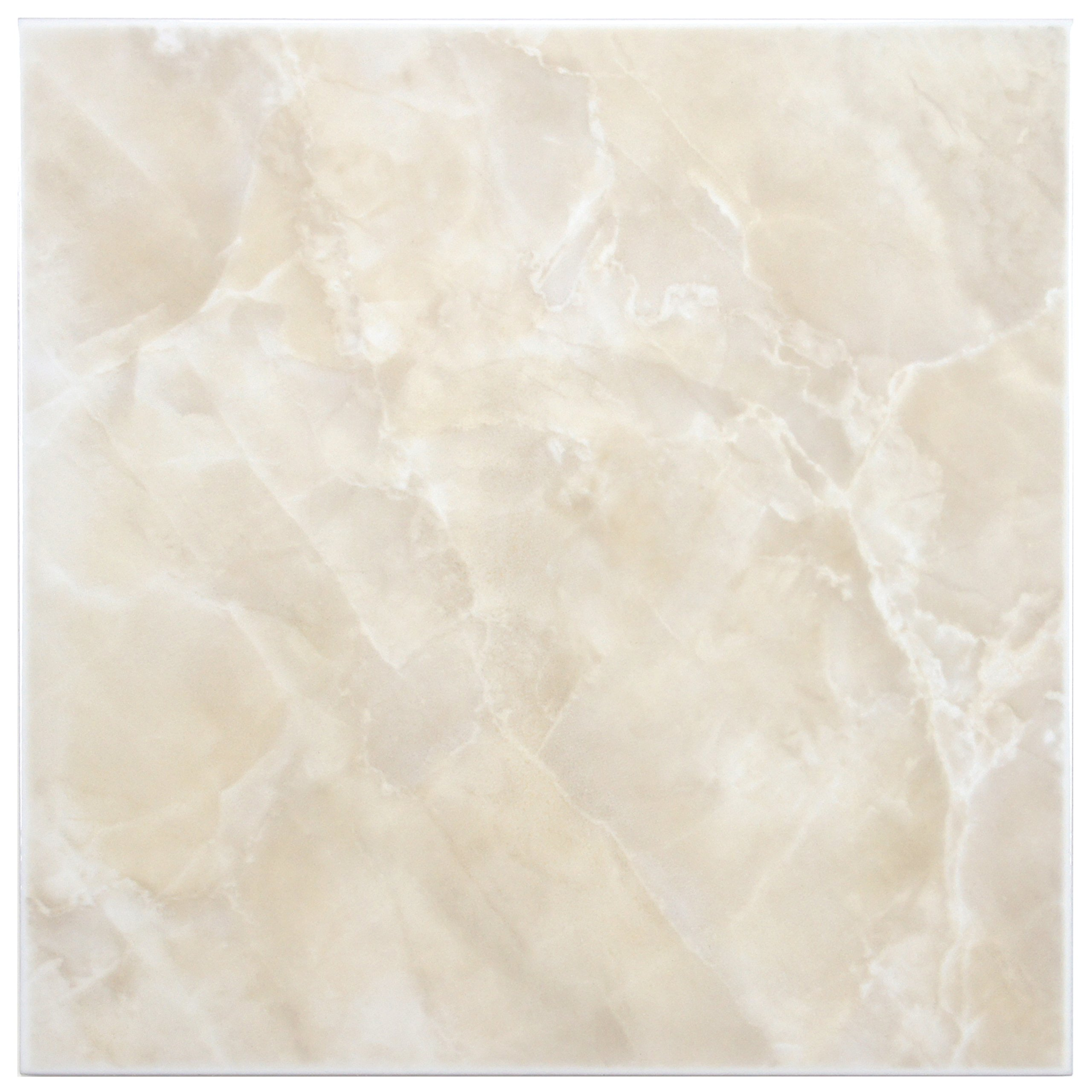 SomerTile FTC12GBE Sigma Ceramic Floor and Wall Tile, 11.75'' x 11.75'', Beige/Cream