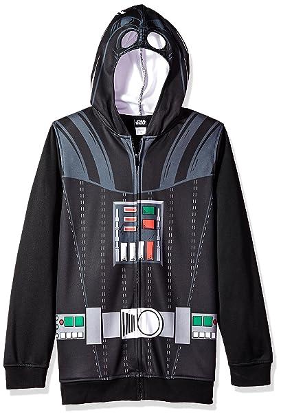 Amazon.com: Star Wars Big Boys Darth Vader Polar de disfraz ...