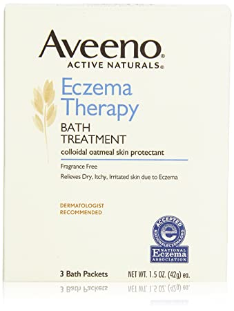Aveeno Eczema Therapy Bath Treatment, 3 Count (Pack of 2)