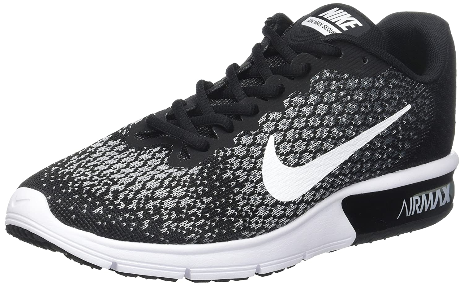 NIKE Men's Air Max Sequent 2 Running Shoe B01H4XEXSK 6.5 B(M) US|Black/White/Dark Grey/Wolf Grey