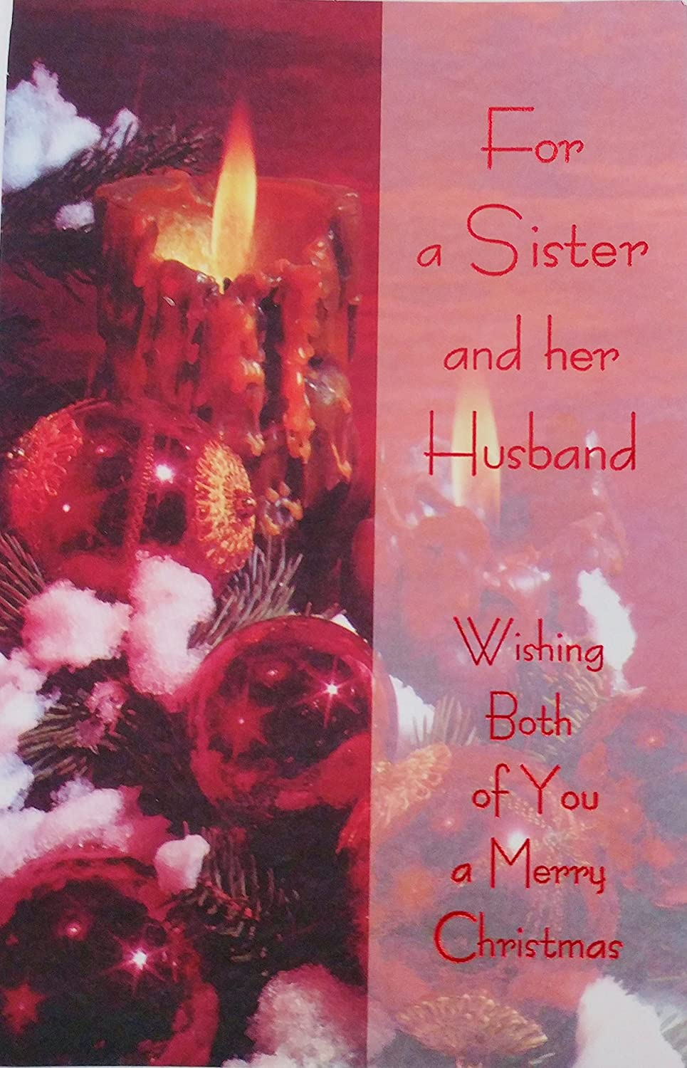 Amazon.com : For a Sister and Her Husband - Wishing Both of You a ...
