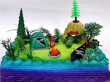 Amazon.com: Naturaleza Escena Camping 20 Piece torta de ...