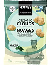 Frankie's Organic Chips - Crunchy Jalapeno Puffs Baked - Vegan, Gluten Free, No GMO, Sprouted Protein Snacks - 120g