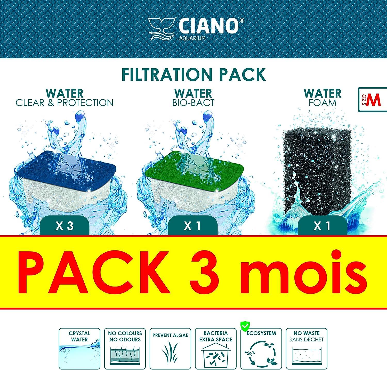 Ciano Acuario Consumables Pack 3Meses para acuariofilia Talla M