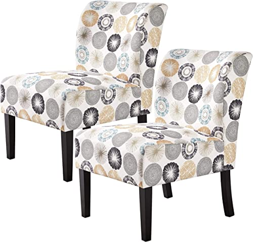 Topeakmart Armless Accent Chair Living Room Chair Slipper Chairs Kitchen/Dining Room Chair Sofa Side Chairs Single Sofa Chair