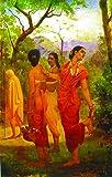"""Shakuntala - Looks Of Love(Unframed Canvas Prints) -Raja Ravi Varma Paintings -24"""" X 15"""""""