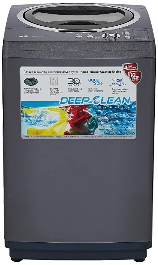 IFB 6 5 kg Fully-Automatic Top Loading Washing Machine (TL-RCG/RCSG Aqua,  Graphite Grey, Aqua Energie water softener)
