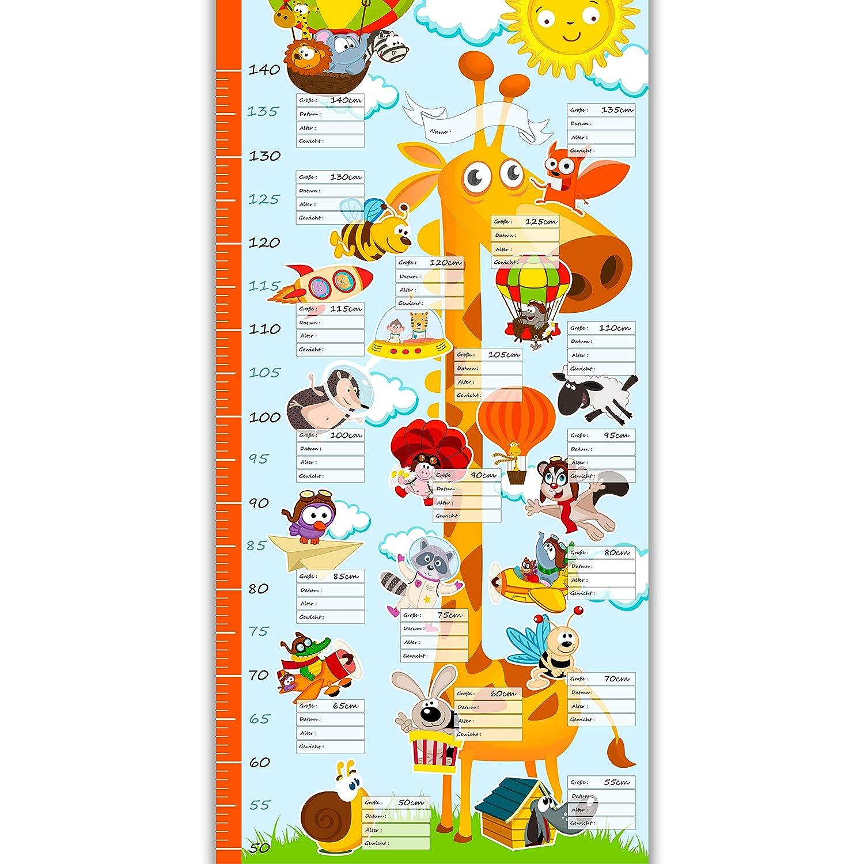 murando - Messlatte 50x100 cm Wachstumsmesser mit Giraffe für Kinder - Kindermesslatte - Meßlatte - Kinderzimmer n-A-0173-c-a