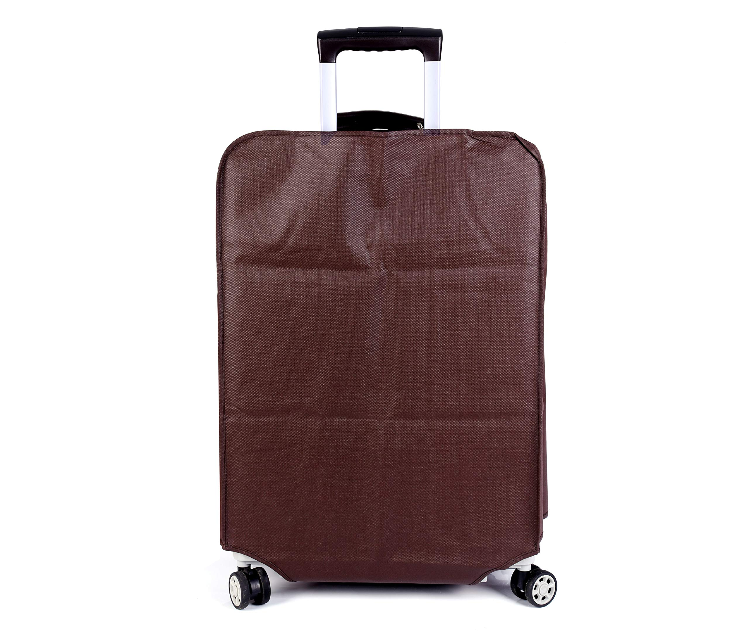 Non-elastic Suitcase Cover Waterproof Luggage Cover,3 Colors,Fits 24 Inch,Brown