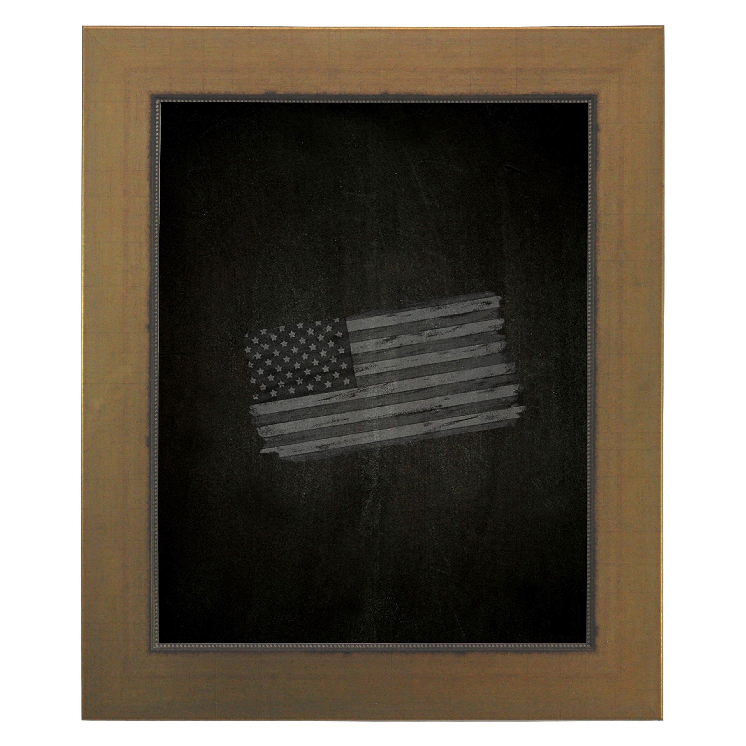 Rayne Mirrors American Made Rayne Golden Lowe Blackboard/ Chalkboard Exterior Size: 29'' x 47''
