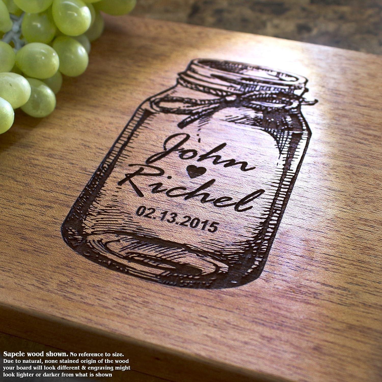Personalized Cutting Board, Custom Keepsake, Engraved Serving Cheese Plate, Wedding, Anniversary, Engagement, Housewarming, Birthday, Corporate, Closing Gift #020