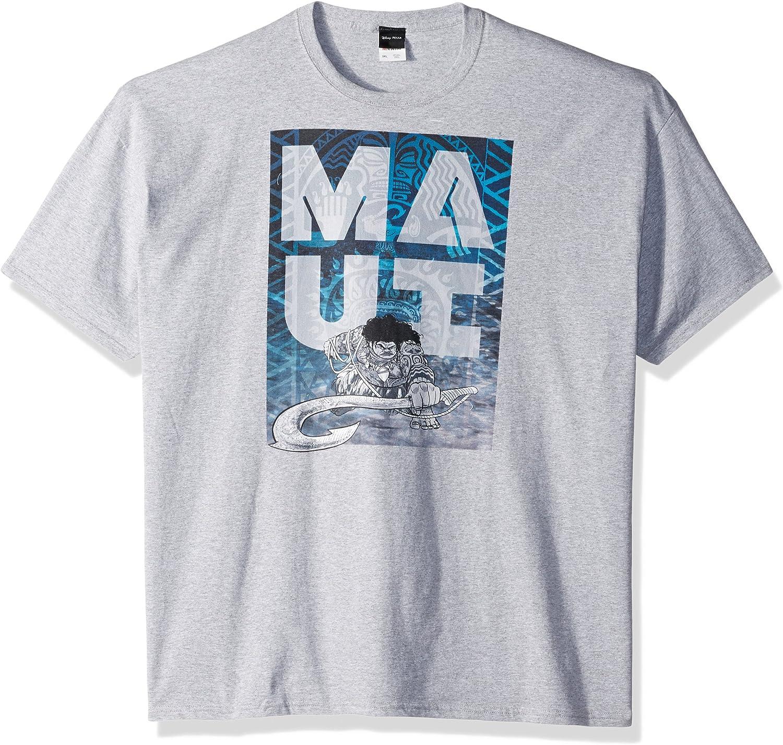 Disney Men's Moana Maui Hook Fade Graphic T-Shirt