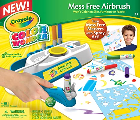 amazon com crayola color wonder mess free airbrush toys games