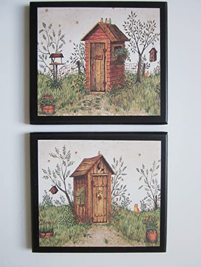Outhouse Bathroom Plaques, His U0026 Hers, 2 Piece Set, Rustic Country  Outhouses,