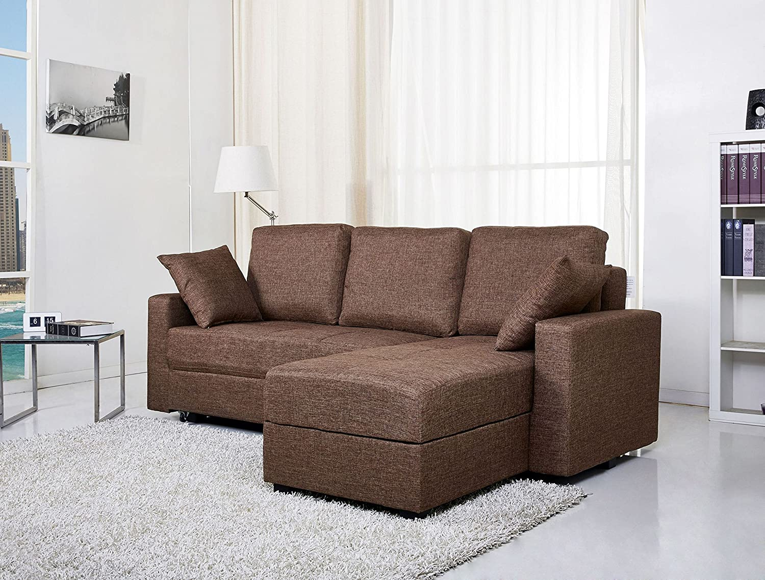 Delicieux Amazon.com: Gold Sparrow Aspen Convertible Sectional Storage Sofa Bed, Ash:  Home U0026 Kitchen