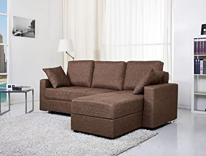 Gold Sparrow Aspen Convertible Sectional Storage Sofa Bed, Ceramic