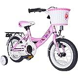 Bikestar 12 Inch (30.5cm) Kids Children Bike Bicycle -Classic - Pink Fairy Design